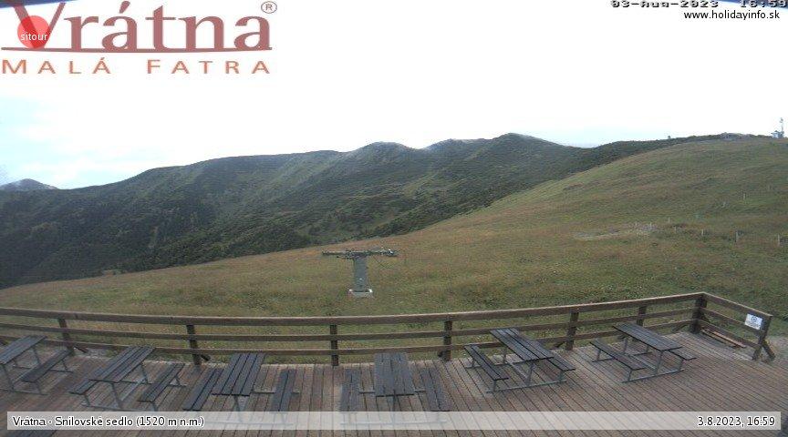Webcam Skigebiet Vratna Tal Snilovske sedlo - Kleine Fatra
