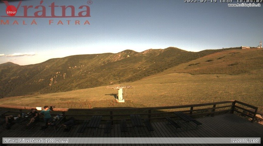 Webcam Skigebied Vratna Dal Snilovske sedlo - Kleine Fatra