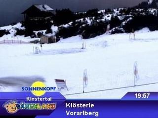webkamera - Klösterle - Bergstation Sonnenkopf