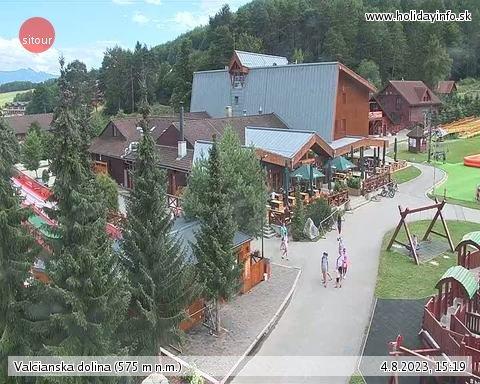 webkamera - Malá Fatra - Valčianska dolina (Snowland, 575 m)