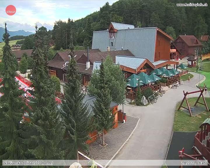 Snowland Valcianska dolina Élő Webkamera