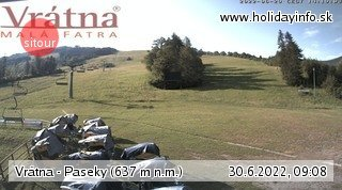 webkamera - Malá Fatra - Vrátna (Paseky, 990 m)