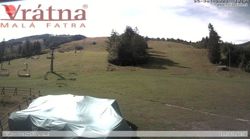 Webcam Skigebiet Vratna Tal Paseky - Kleine Fatra