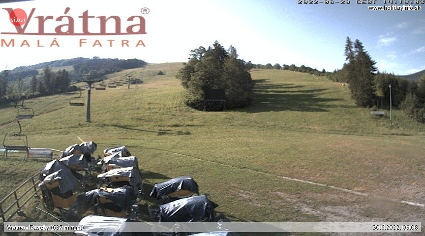 Webcam Ski Resort Vratna Valley Paseky - Lesser Fatra