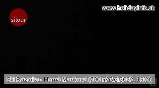 Live Kamera Ski Ráztoka - Horná Mariková