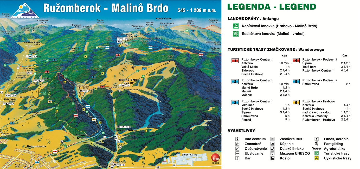 Térkép - Malinô Brdo (Leto)