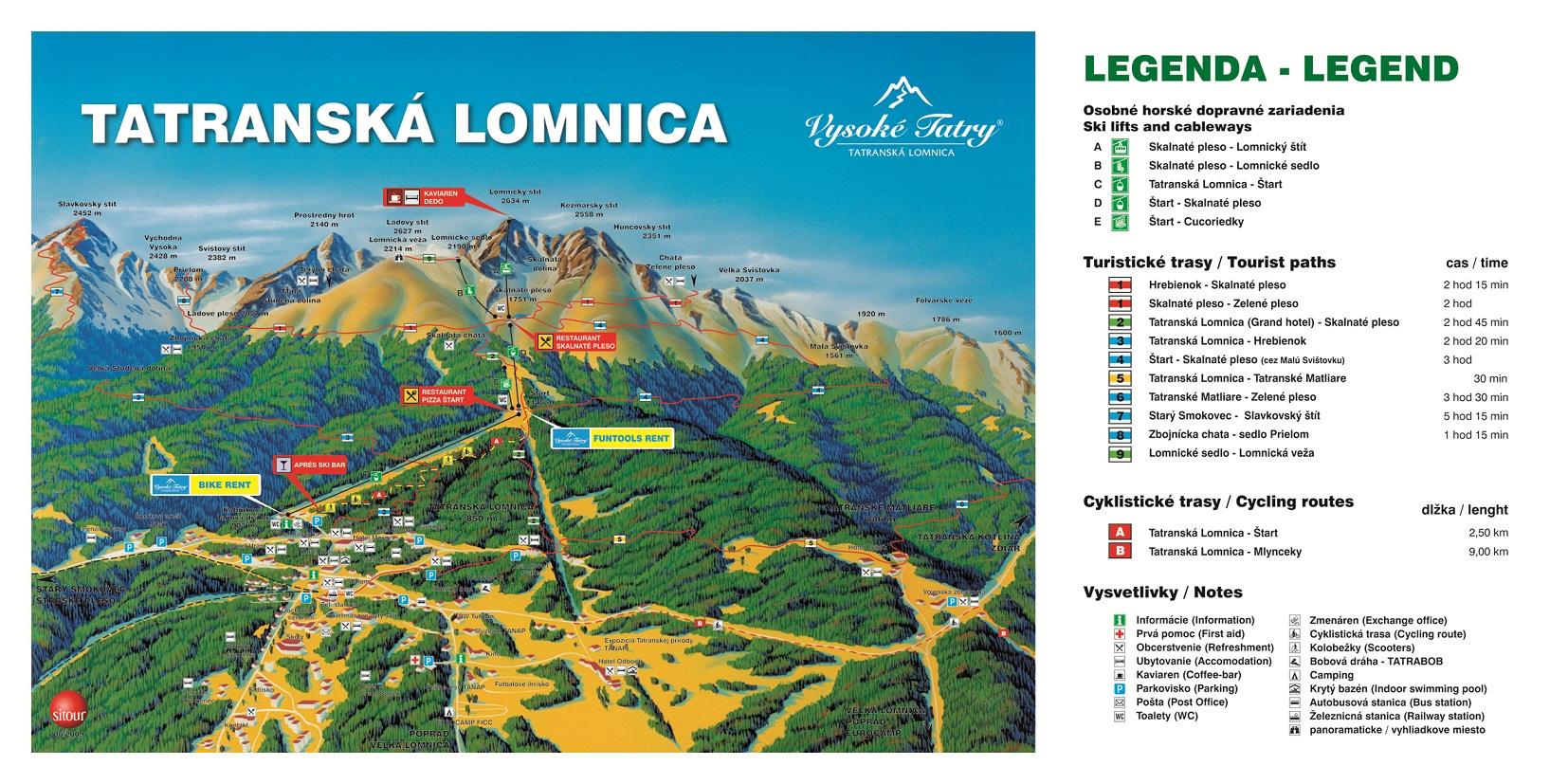 Map - Tatranská Lomnica (Leto)