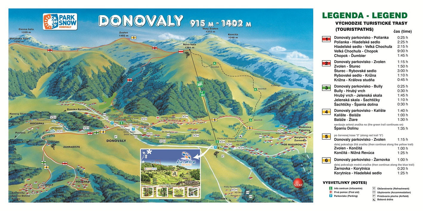 Map - Donovaly (Leto)