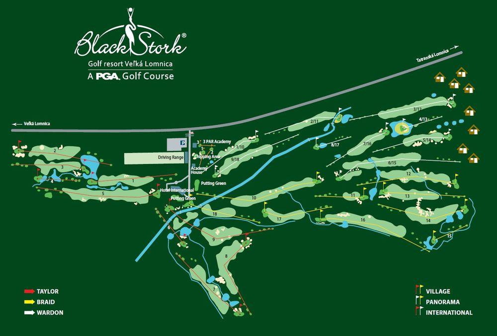 Mapa - Golfový rezort Veľká Lomnica - bežkárske okruhy