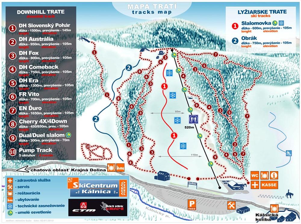 Map - Skicentrum Kálnica