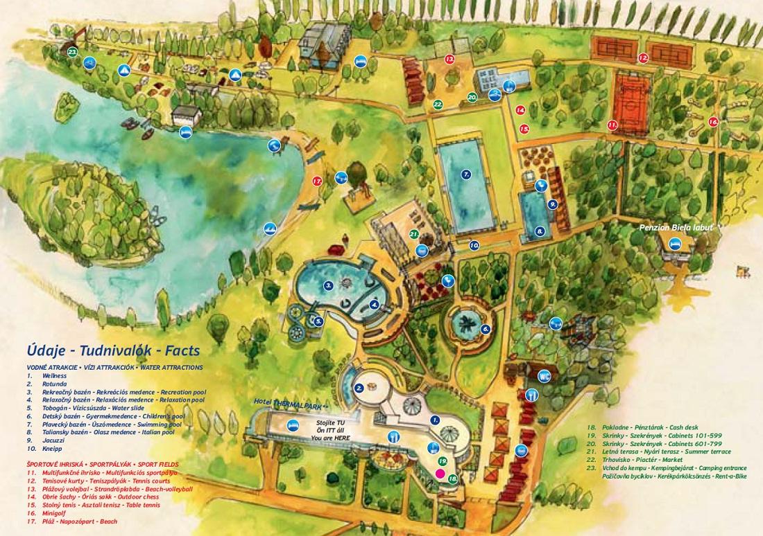 Mapa - Mapa areálu