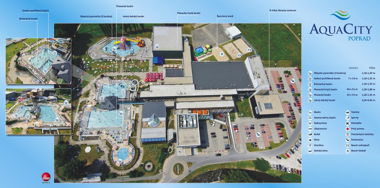 Mapa - AquaCity Poprad