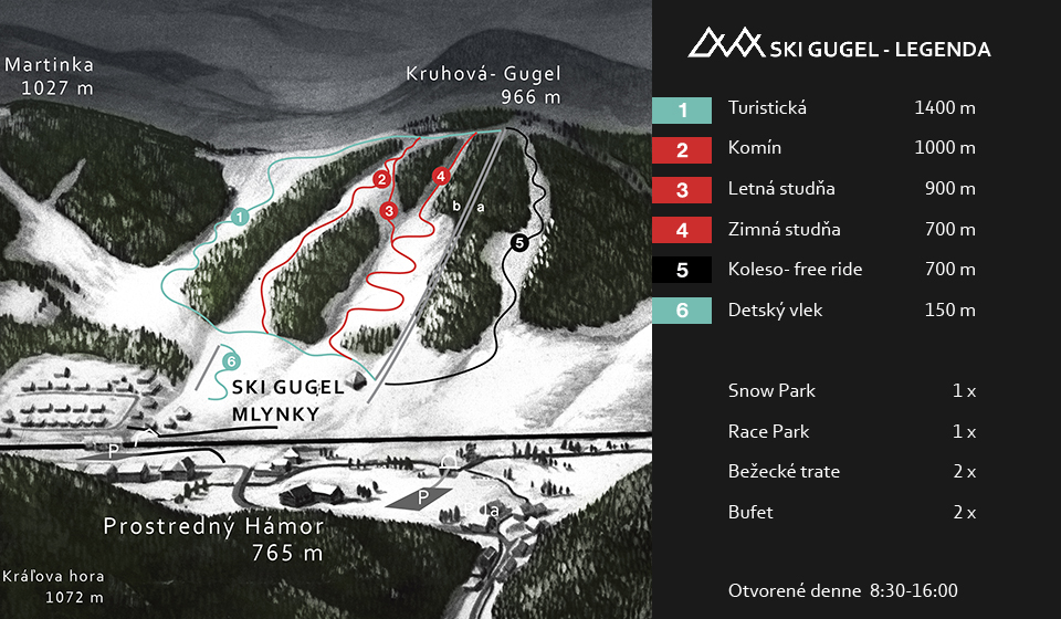 Map - Mlynky - Dedinky