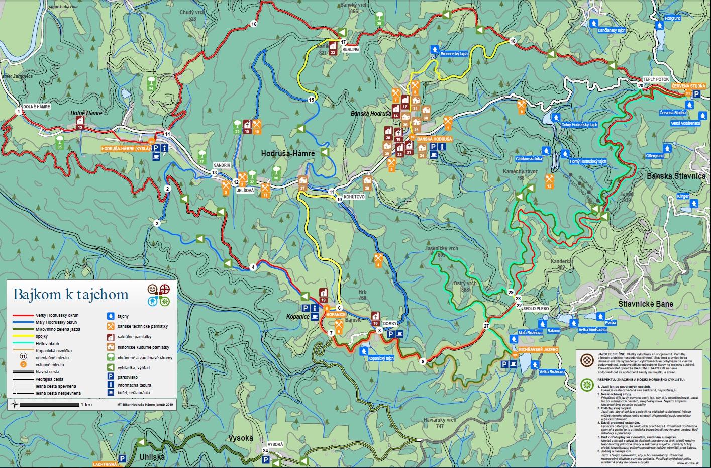 Map - Cyklomapa Vyhne