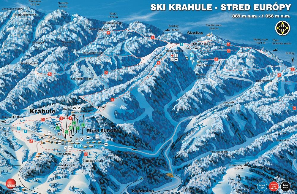 Térkép - Ski KRAHULE