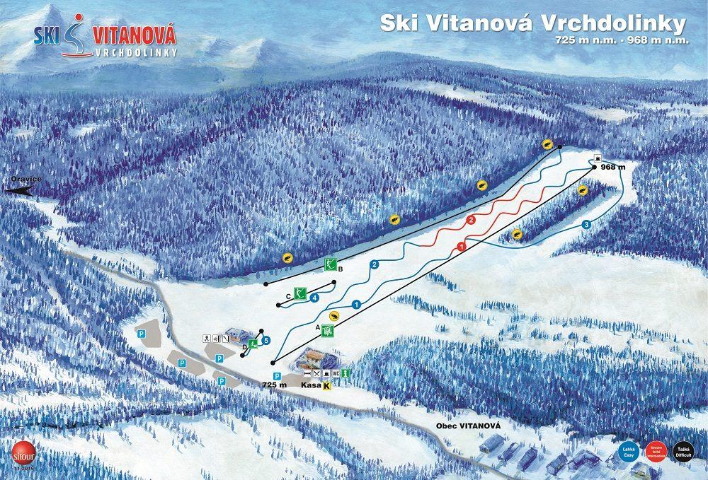 Mapa - SKI Vitanová