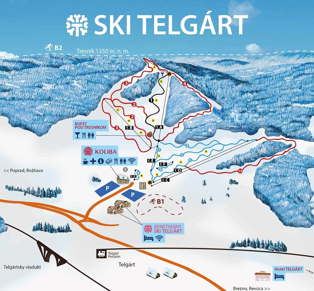 Mapa - Telgárt (Zima)