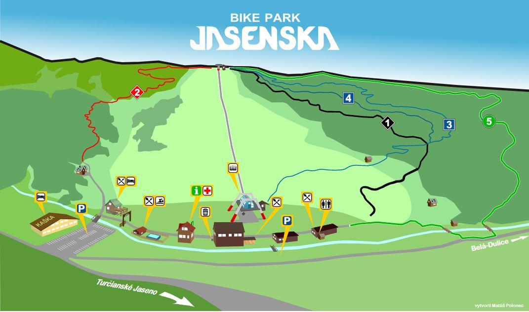 Térkép - BIKE PARK Jasenska
