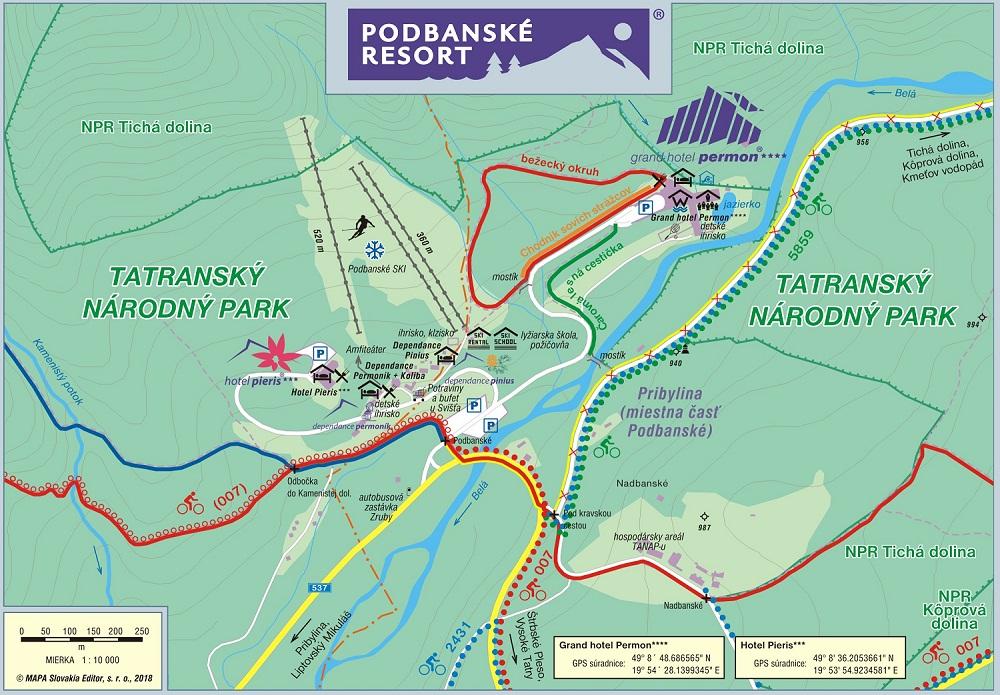 Mapa - Podbanské Ski