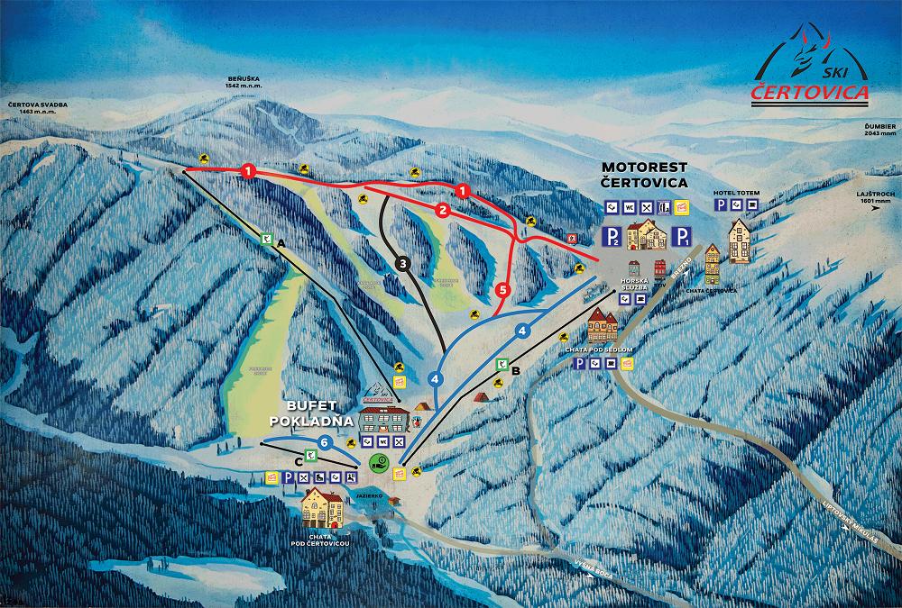 Mapa - Čertovica (Zima)
