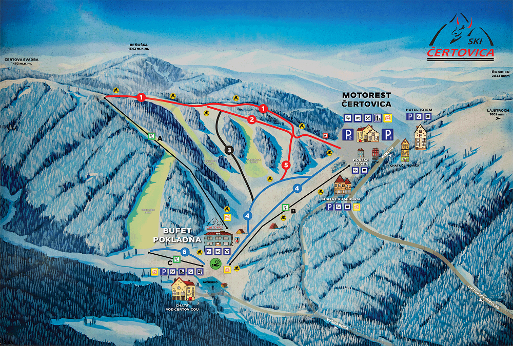 Map - Čertovica (Zima)