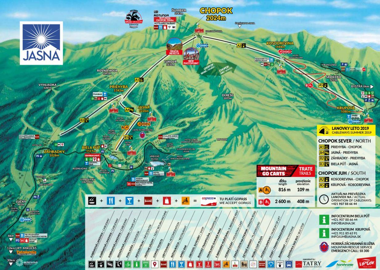 Map - Jasna leto TMR