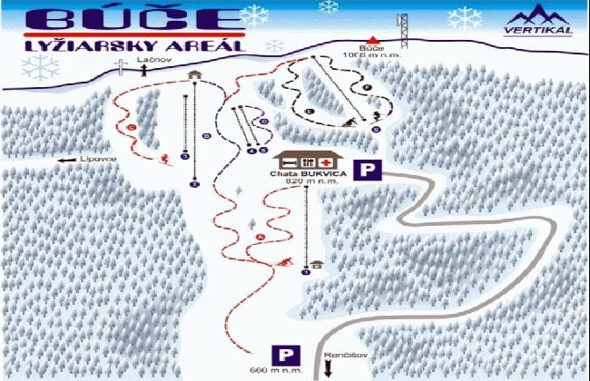 Mapa - Búče (Zima)