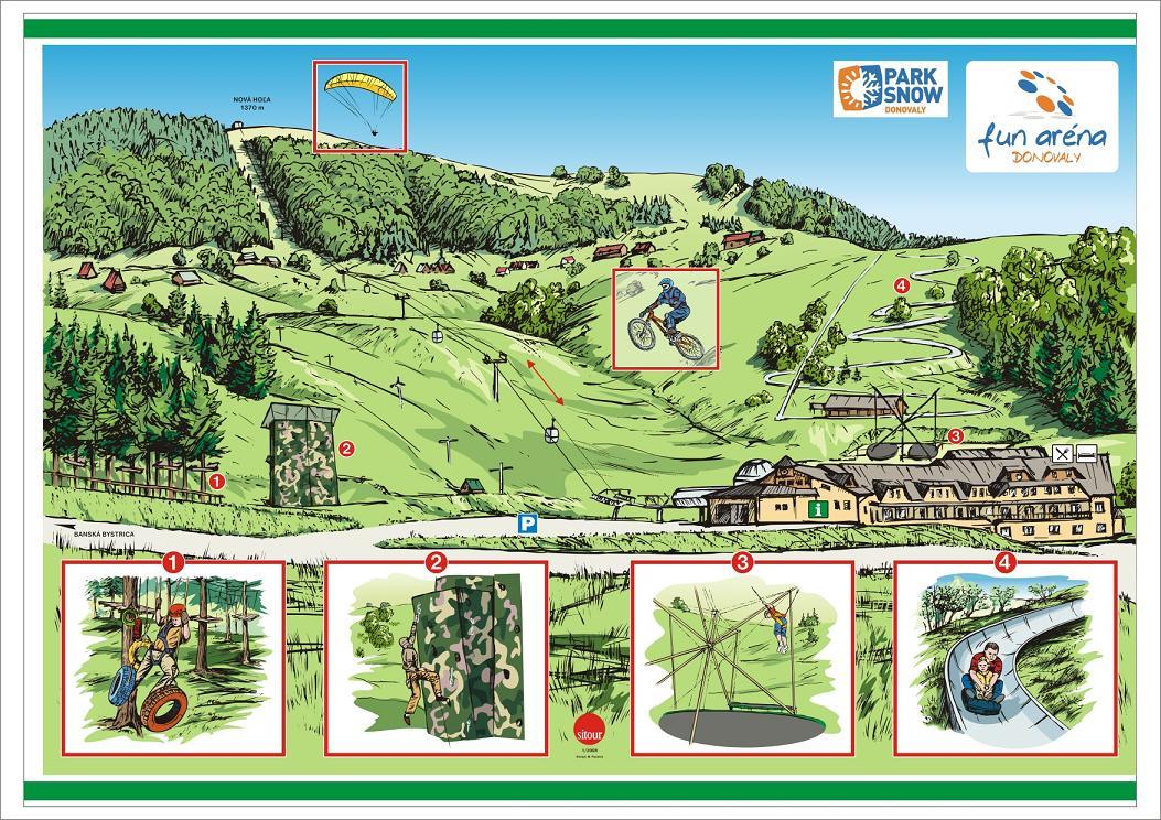 Map - FUN ARÉNA DONOVALY